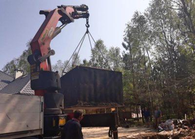 opuszczanie szamba betonowego
