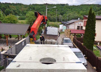 szamba betonowe przygotowanie do montażu